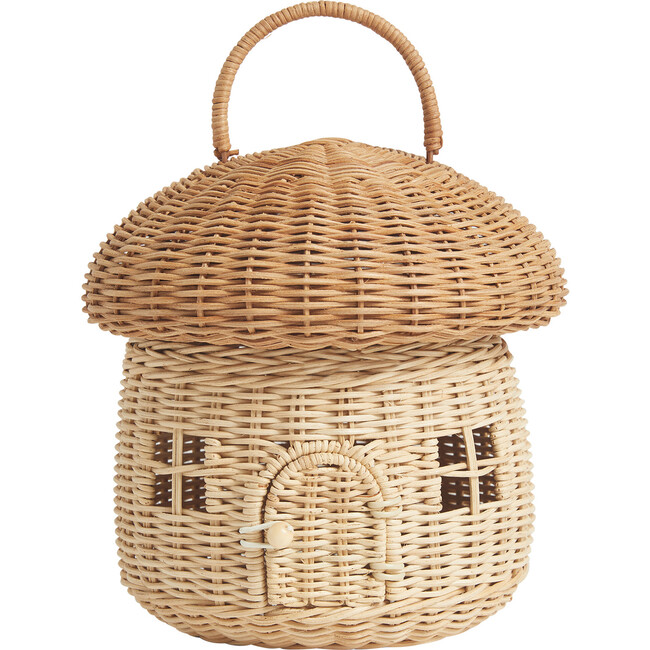 Rattan Mushroom Basket