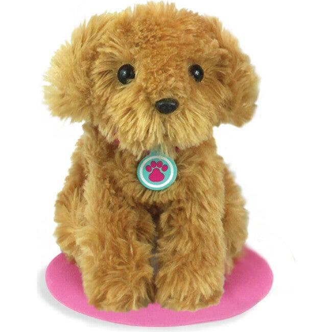 18'' Doll Puppy Dog & Carrier Set, Pink