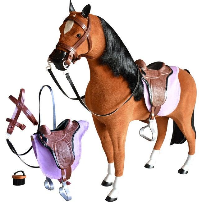 18'' Doll Fabric Horse, Tan