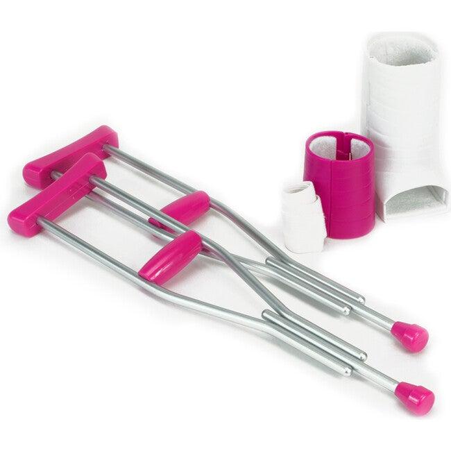 18'' Doll Crutches, Arm Cast, Leg Cast & Bandage, Sliver