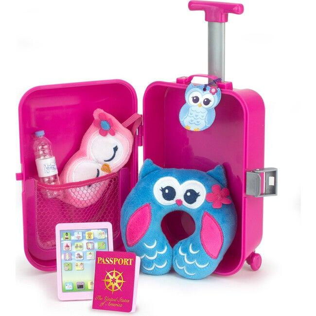 18'' DollTravel Suitcase Set, Hot Pink