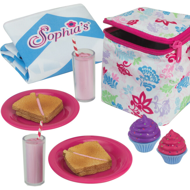 18'' Doll Picnic Lunch Set, Pink