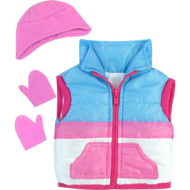 18'' Doll Winter Vest, Hat, Mittens & Winter Inner Tube Set, Pink