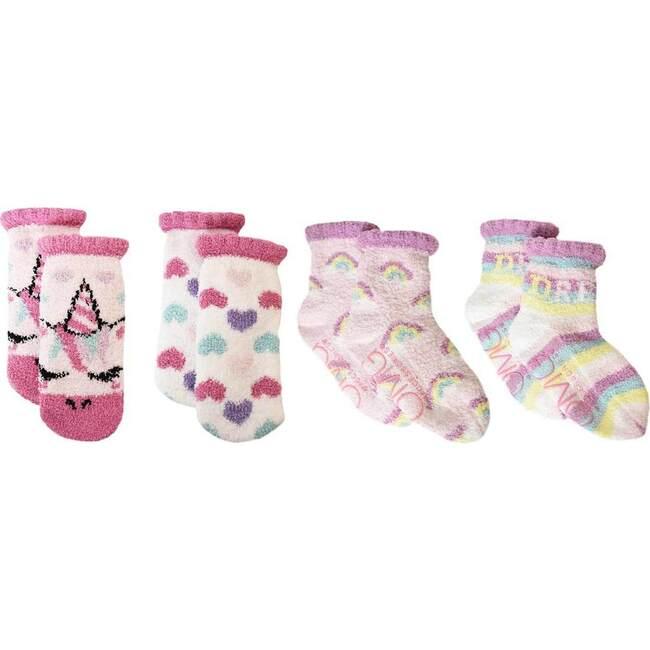 Miss Gwen & Rainbows Cozy Slipper Socks Set