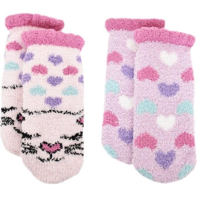 Bella Kitty & Hearts Cozy Slipper Socks Set