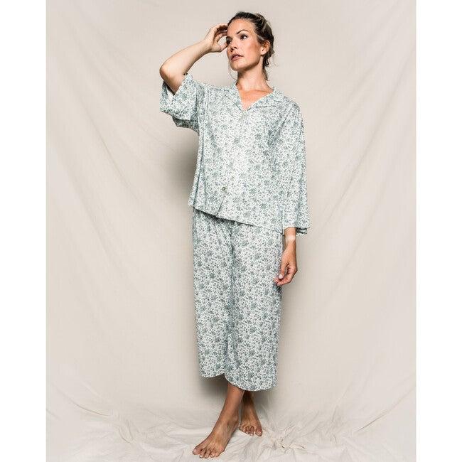 Women's Sussex Evergreen Wide Leg Pajama Set, Sussex Evergreen