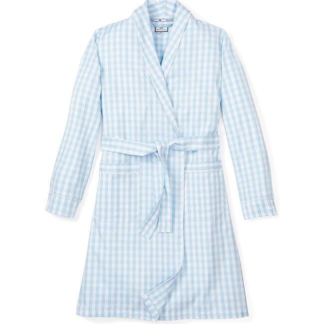 Women's Robe, Light Blue Gingham