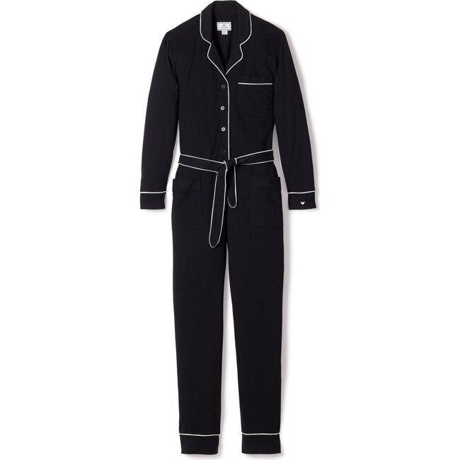 Women's Pima Jumpsuit, Black - Pajamas - 1