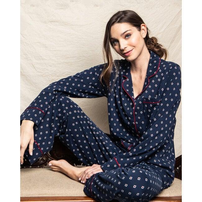 Women's Pajama Set, Luxe Pima Foulard Classic