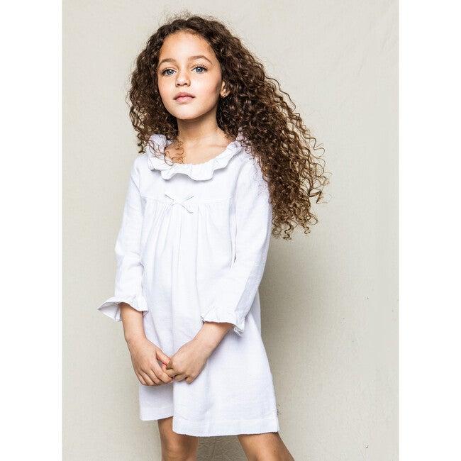 Scarlett Nighgown, White Flannel