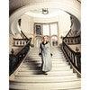 Women's Long Velvet Robe, West End Houndstooth - Pajamas - 3