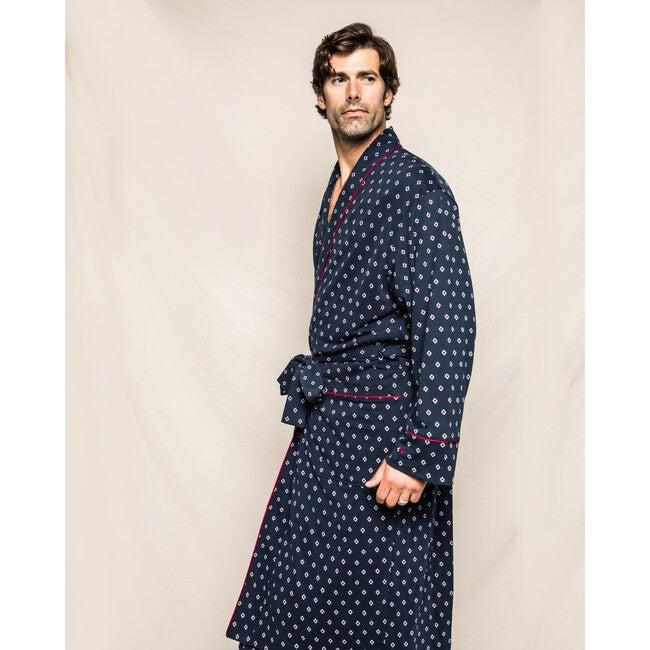 Men's Robe, Luxe Pima Foulard
