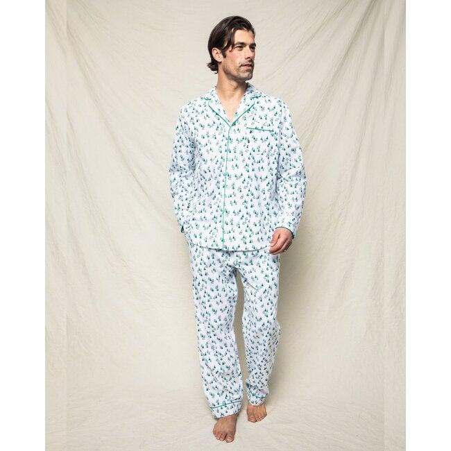 Men's Pajama Set, Evergreen Forest