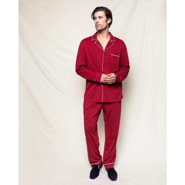 Men's Pajama Set, Bordeaux