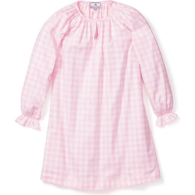Delphine Nightgown, Pink Gingham - Pajamas - 1