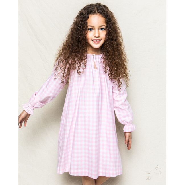 Delphine Nightgown, Pink Gingham