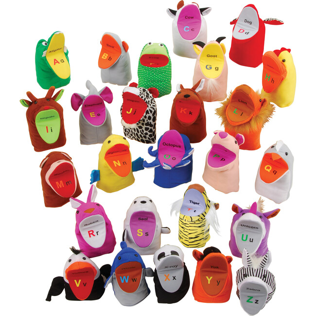 ABC Hand Puppets, Multicolor