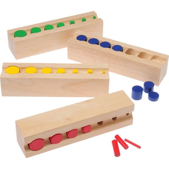 Color Cylinder Blocks, Tan