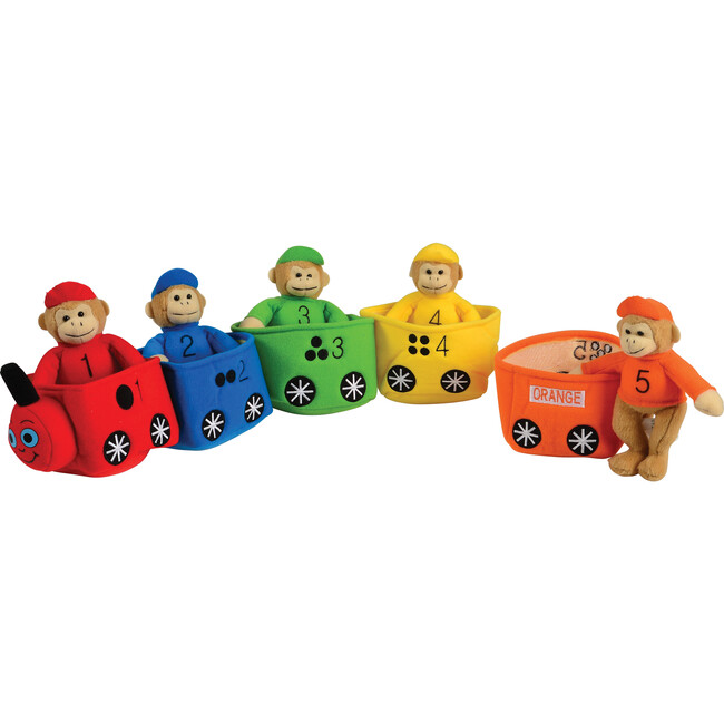 Play and Learn Monkey Train, Multicolor