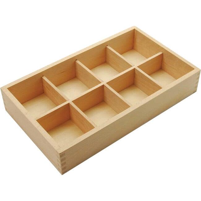 Wooden Sorting Box, Tan