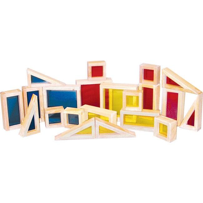 Colored See-Thru Blocks, Multicolor