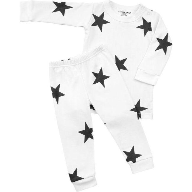 Bold Star Pajamas, Black - Pajamas - 1