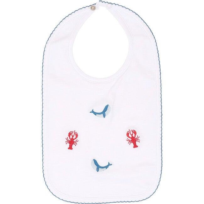 Nautical Embroidered Bib
