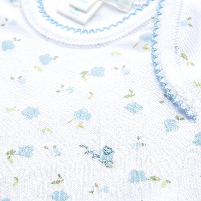 Bloom Wind Long Sleeve Onesie, Blue