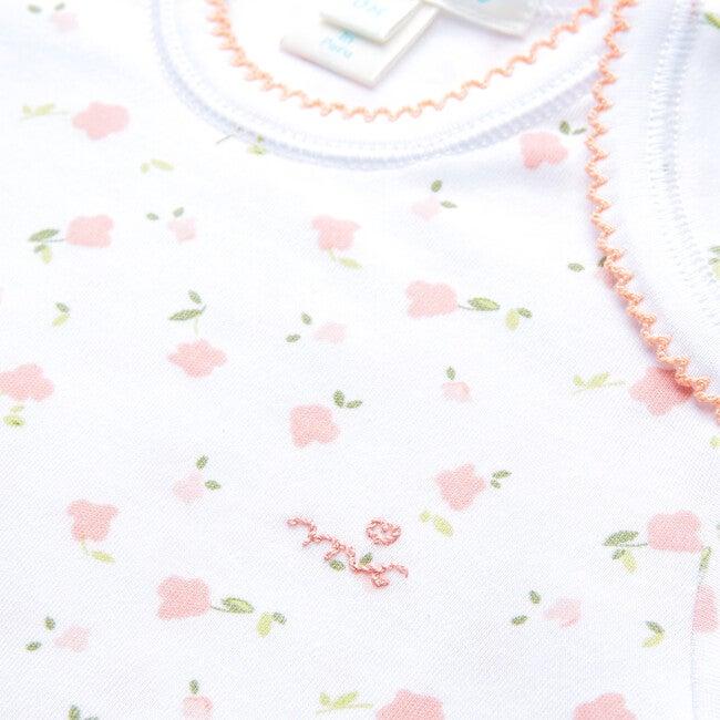 Bloom Wind Long Sleeve Onesie, Pink