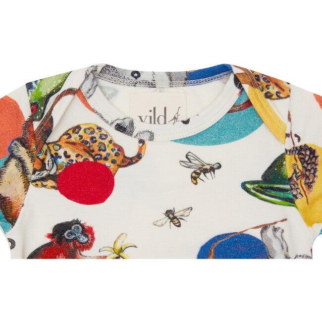Organic Cotton Bodysuit, Precious Wildlife