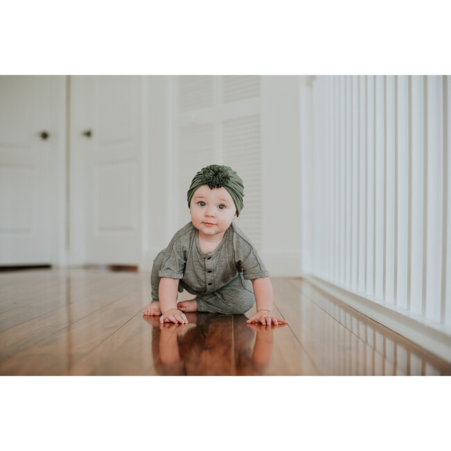 Classic Rose Headwrap, Olive Green