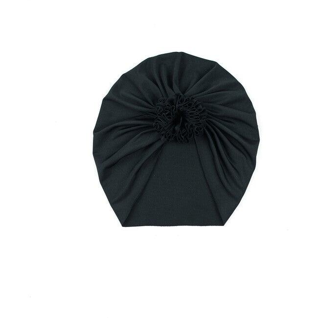 Classic Rose Headwrap, Black