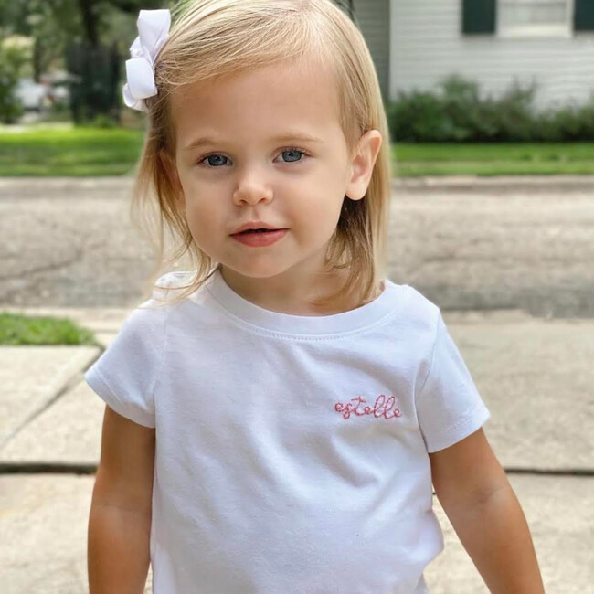 My Name is! Embroidered Shirt, White