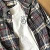 Embroidered Peace Name Tee, White - Tees - 4