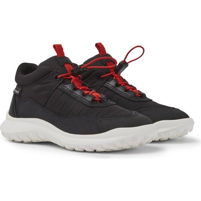 Kids CRCLR Technical Fabric Sneaker, Black