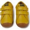 Kids Dadda FW Leather Sneaker, Yellow - Sneakers - 4