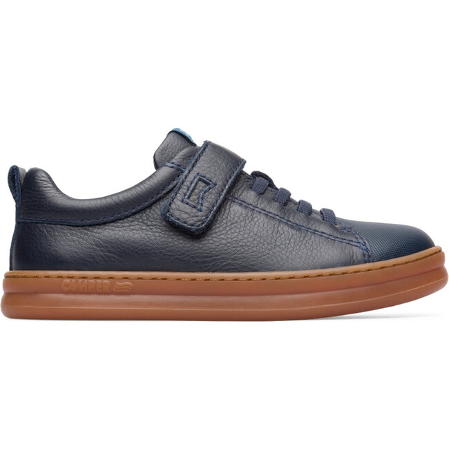 Kids Runner Four Leather Sneaker, Blue