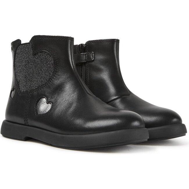 Girls Duet Leather Chelsea Boot, Black