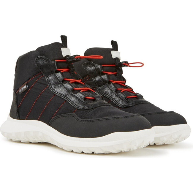 Kids CRCLR Technical Fabric Sneaker Boot, Black