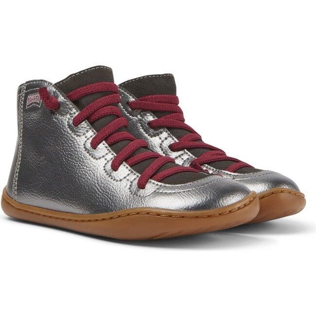 Girls Peu Cami Leather Boot, Grey
