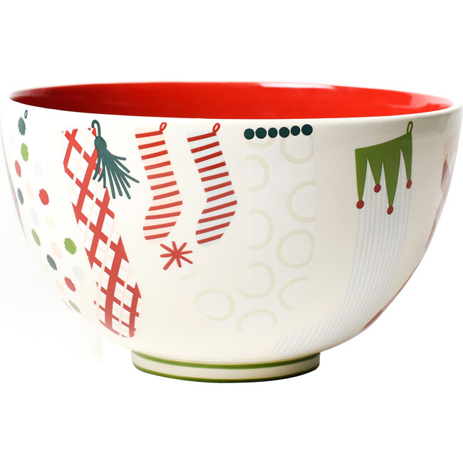 Stockings Footed Bowl, Red