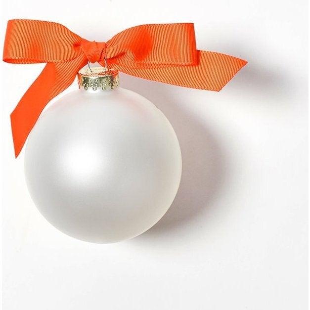 Best Grandparents Glass Ornament, White