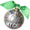 I Love My Cat Popper Glass Ornament, Silver - Ornaments - 1 - thumbnail