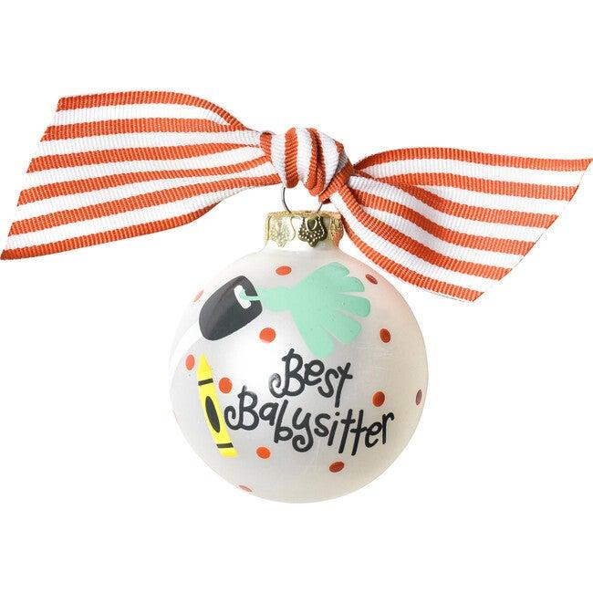 Babysitter Glass Ornament, White - Ornaments - 1