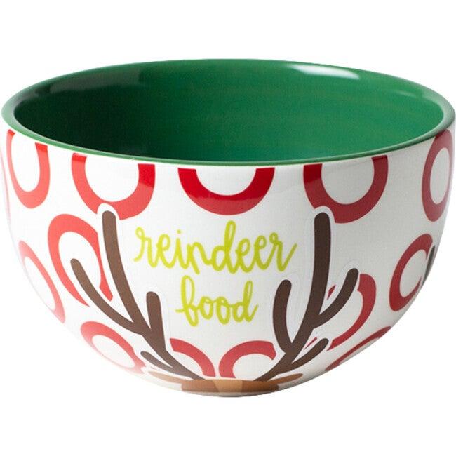 Small North Pole Reindeer Bowl, Multi