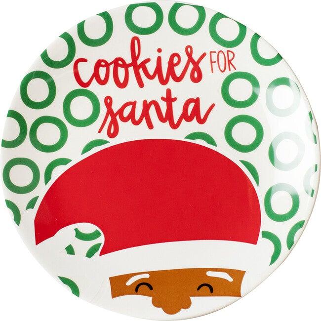 North Pole Cookies for Santa Plate, Brown Skin