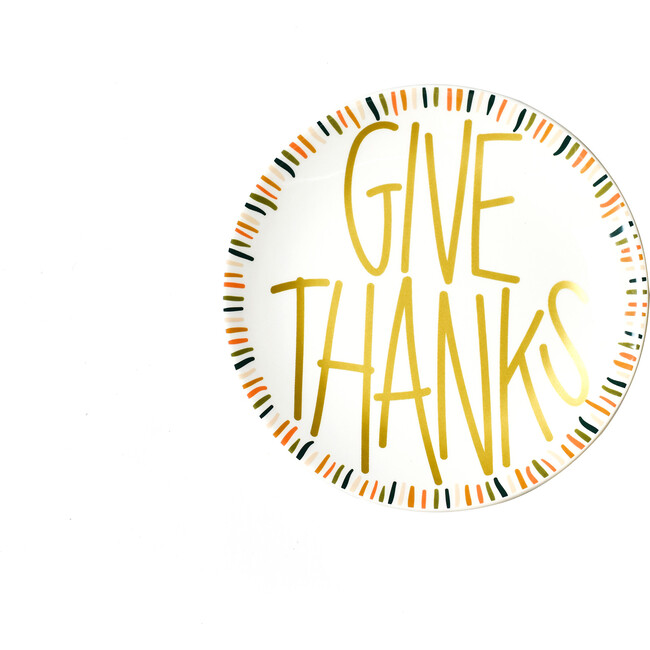 Dusk Give Thanks Plate, White