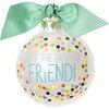 Greatest Friend Bright Confetti Glass Ornament, White - Ornaments - 1 - thumbnail