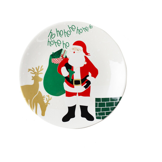 Christmas in the Village Rooftop Plate, Multi
