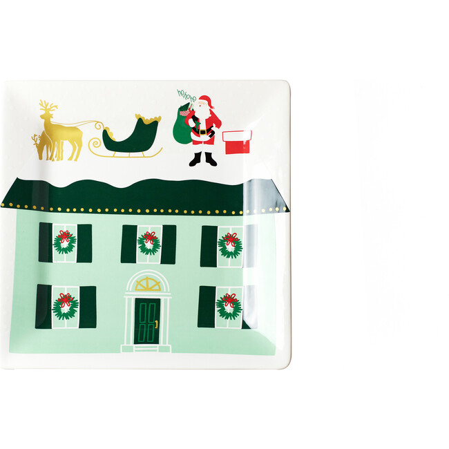 Christmas in the Village Rooftop Square Platter, Multi